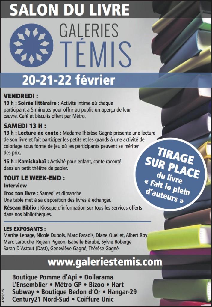 Salon Du Livre Des Galeries Témis De Cabano 2015